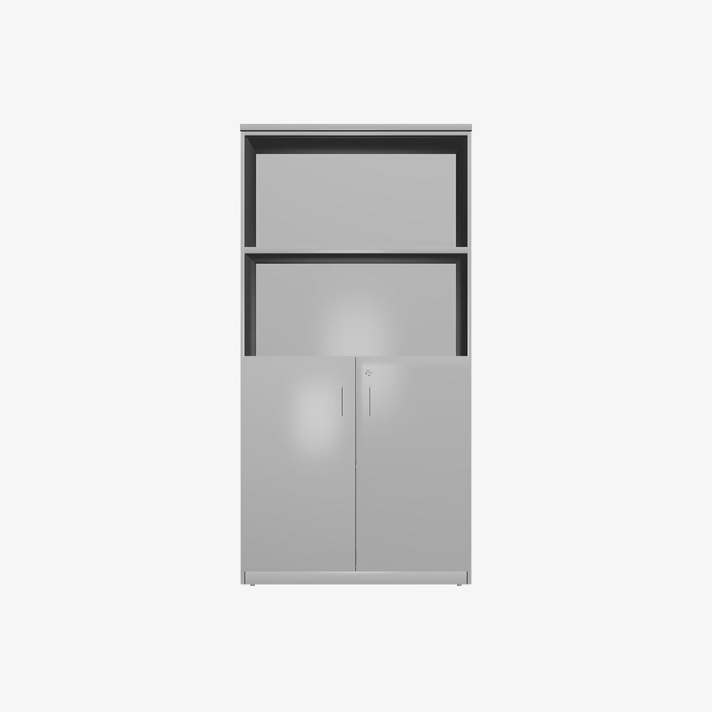 3D Open Shelf and Swing Door 1800