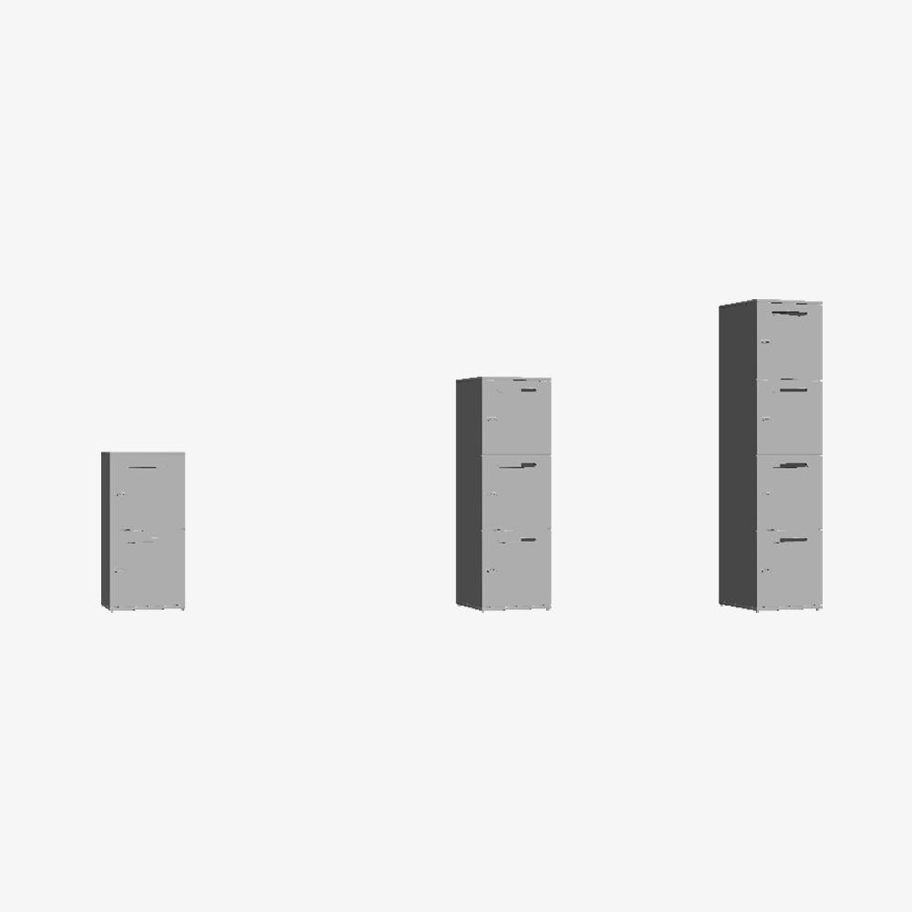 3D Skab Pigeon Hole Door Single Tower