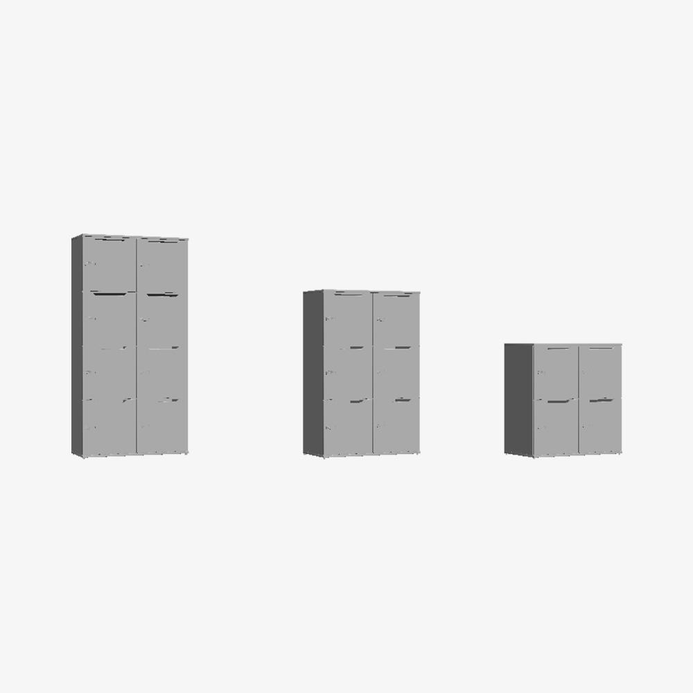 3D Skab Wave Shape Door Double Tower